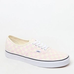 Vans Chalk Pink Checkerboard Authentic Shoes